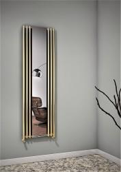 Bahama Dekoratif Radyatör 540x1760 Altın Renkli - Thumbnail