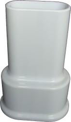 - Çiftli Radyatör Boru Gizleme Kılıfı 2 Parçalı Geçmeli Plastik Beyaz 160mm (1)