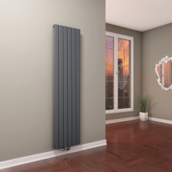 Tip 10V Dekoratif Radyatör 1800x440 Antrasit (Dikey Radyatör) - Thumbnail