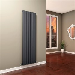 Tip 10V Dekoratif Radyatör 1800x514 Antrasit (Dikey Radyatör) - Thumbnail