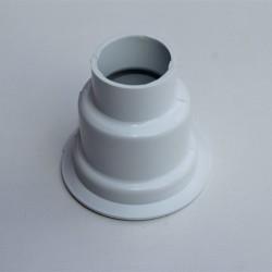 Havlupan Boru Gizleme Kılıfı 2 Parçalı Geçmeli Plastik Beyaz - Thumbnail