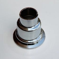 - Havlupan Boru Gizleme Kılıfı 2 Parçalı Geçmeli Plastik Krom (1)