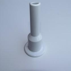 - Tekli Radyatör Boru Gizleme Kılıfı 2 Parçalı Geçmeli Plastik Beyaz 160mm (1)